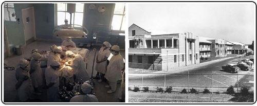 نمای بيرونی و اتاق جراحی بيمارستان شماره 2 شركت ملی نفت آبادان